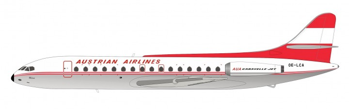 Austrian Airlines SE-210 Caravelle VI-R Polished OE-LCA Inflight IF210OE0719P scale 1:200