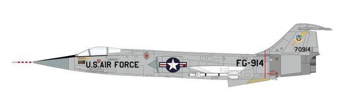 USAF F-104G US Air Force 1960's Hobby Master HA1044 Scale 1:72