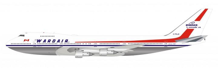 Wardair 747-100 C-FDJC polished with stand InFlight IF741WDA0819P scale 1:200