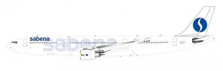 Sabena Airbus A330-300 OO-SFM with stand InFlight IF333SN0719 scale 1:200