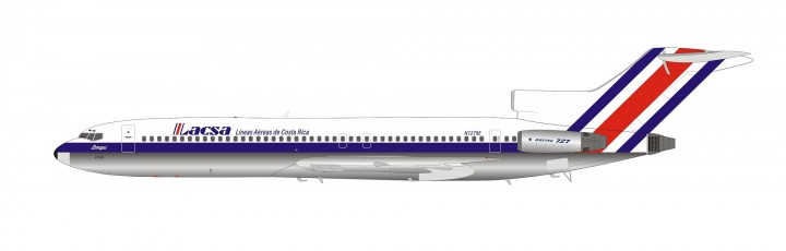 LACSA Boeing 727-200 N1279E with stand Inflight200 CR002 scale 1:200