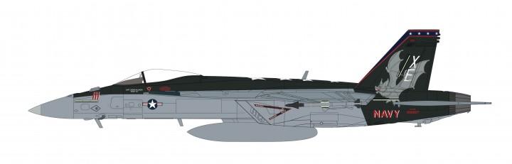 "US Navy F/A-18F ""Vampires"" VX-9 Super Hornet 2008 Hobby Master HA5109 scale 1:72"