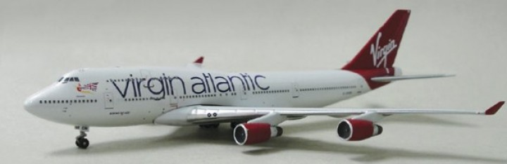 Virgin Atlantic 747-412 Reg# G-VROMF, Limited to 200! A13064, 1:400