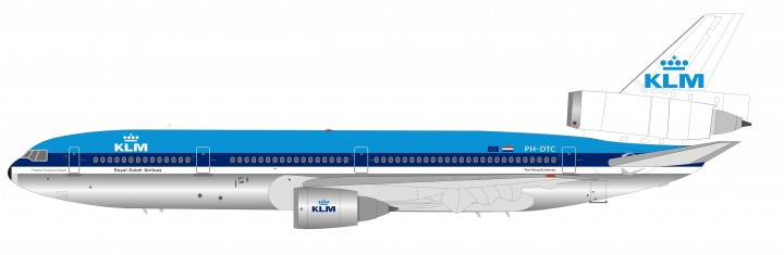 KLM Royal Dutch Airlines DC-10-30 PH-DTC InFlight IFDC100718 scale 1:200