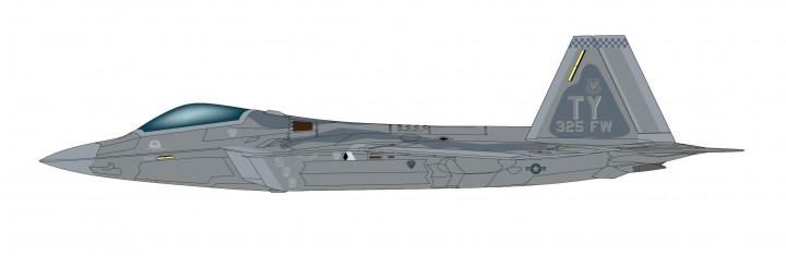 USAF F-22A Raptor 325 FW, 2008 Hobby Master HA2820 scale 1:72