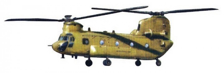 Chinook CH-47D 3rd Battalion 25th AR 25th CAV 25th Infantry Div Afghanistan 2013 Force of Valor FV-821004D scale 1:72