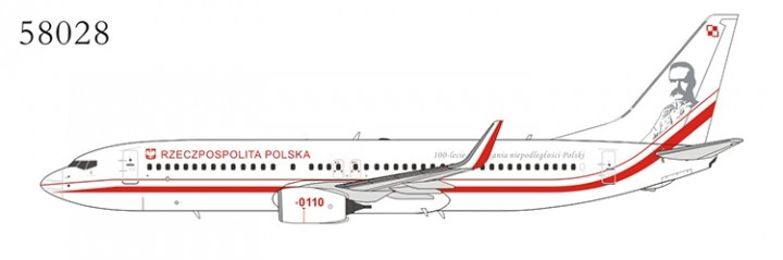 Poland - Air Force 737-800/ w 0110with scimitar winglets NGModel NG58028