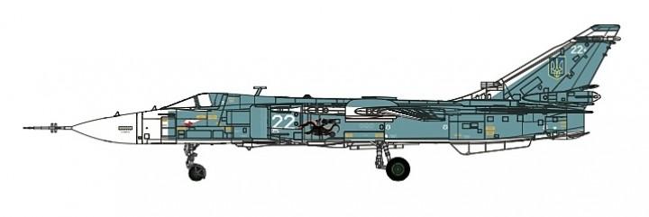 Su-24M Fencer Ukrainian Air Force Die-Cast Calibre Wings CA722403 scale 1:72