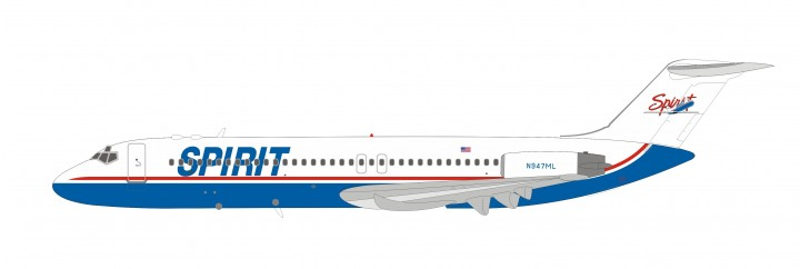 Spirit Airlines McDonnell Douglas DC-9-30 N947ML with stand Inflight IF932NK0519 scale 1:200