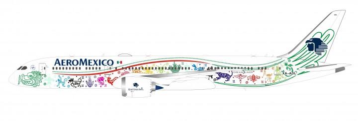 AeroMexico Boeing 787-9 Quetzalcoatl XA-ADL Inflight VL2019001 scale 1:200