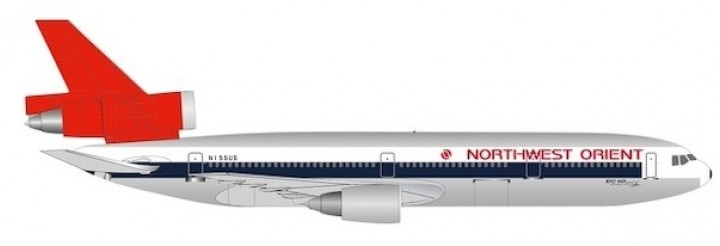 Northwest Orient Airlines DC-10 50th. anniversary  Herpa HE534369 scale 1:500
