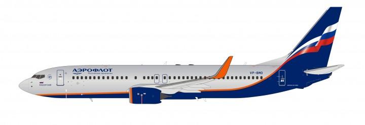 Aeroflot 737800w VP-BMO NG models 58019 scale 1:400