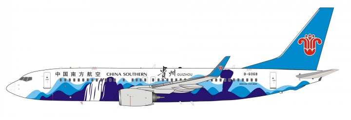 China Southern Boeing 737-800 B-6068 Guizhou 中国南方航空 with stand InFlight IF738CZ001 scale 1:200