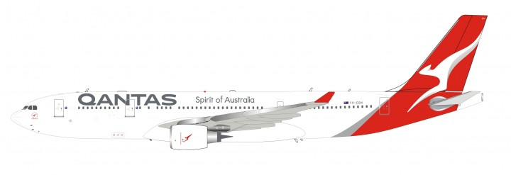 Qantas Airbus A330-200 VH-EBN New Livery with stand Inflight IF332QFA0319 scale 1:200