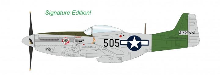 Signed P-51D Mustang Capt Abner M Aust Jr 457th FS 506th FG 7th AF 1945 Hobby Master HA7743a 1:48