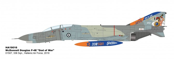 "Hellenic Air Force F-4E ""God of War"" 01507 338 Sqn 2019 Hobby Master HA19017 scale 1:72"