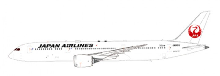 Japan Airlines (JAL) Boeing B787-9 w/ Antenna Reg# JA861J JC Wings JC4JAL393 Scale 1:400