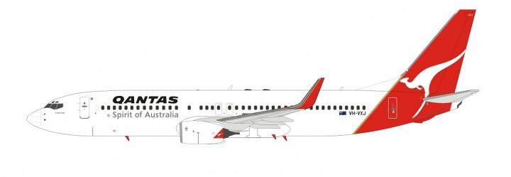 Qantas Airlines 737800w VH-VXJ 90's livery NG models B-7380002A scale 1400