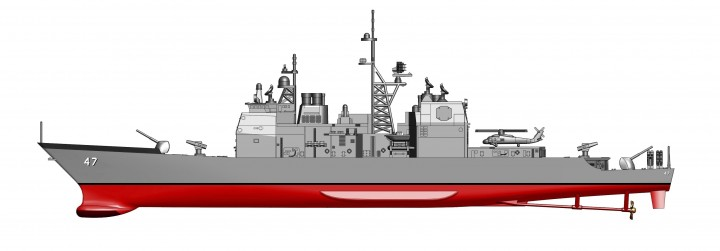 U.S. Navy Ticonderoga-Class guided missile cruiser 1980s Hobby Master HSP1001 Scale 1:700