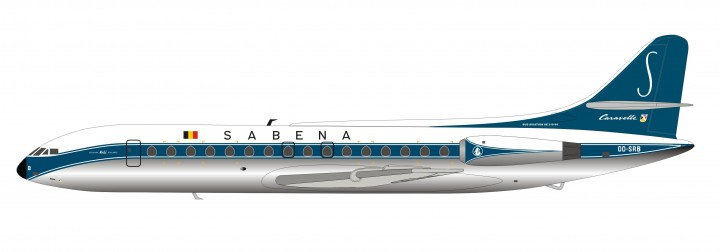 Sabena SE-210 Caravelle VI-N Polished OO-SRB Inflight IF210SN0219P scale 1:200