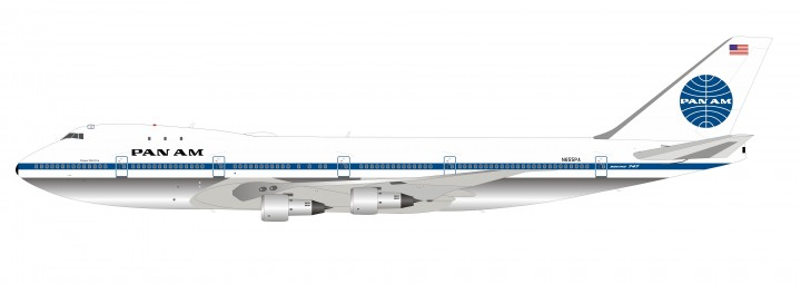 Pan Am Boeing 747-121 N655PA Clipper Wild Fire InFlight IF741PA0719P scale 1:200