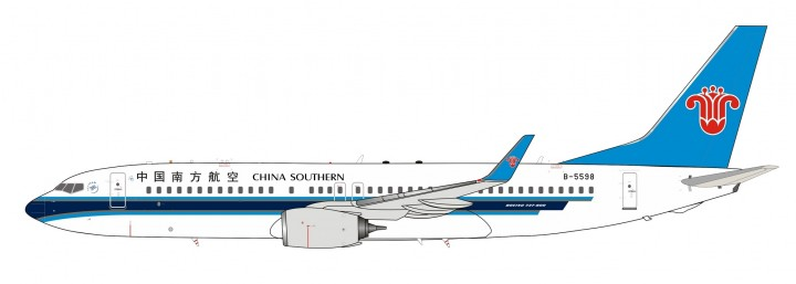China Southern Boeing 737-800 B-5598 中国南方航空 with stand InFlight IF738CZ002 scale 1:200
