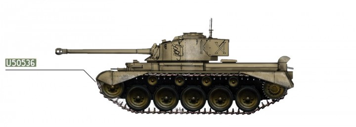 South African Defense Force Tank A34 C Comet 1960's Hobby Master HG5206 Scale 1:72