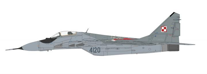 "MIG-29 Fulcrum A Polish Air Force ""100th Anniversary"" Mikoyan Mig-29 Микоян МиГ-29 Hobby Master HA6502 scale 1:72"