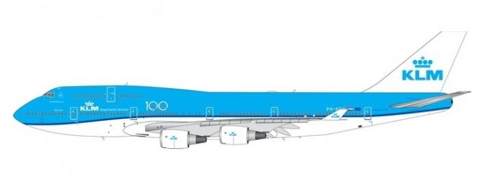 KLM Boeing 747-400 100 Years Anniversary PH-BFW die-cast Phoenix 11562 scale 1:400