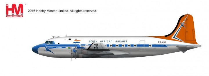 South African Airways Douglas DC-4 ZS-AUB Hobby Master HL2026 Scale 1:200