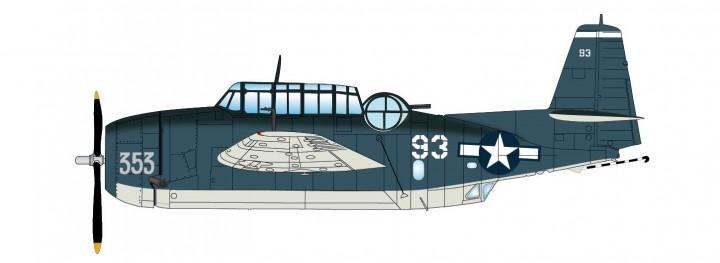 TBF-1C Avenger VT-15 USS Essex Battle of Leyte Nov 1944 HA1222 scale 1:72