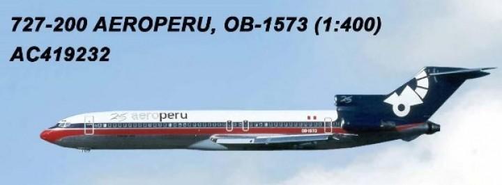 AeroPeru Boeing B727-200 OB-1573 AC419232 Aero Classics Scale1:400