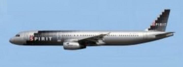 Spirit Airbus A321 N588NK silver livery AC419497 Aero Classics scale 1:400