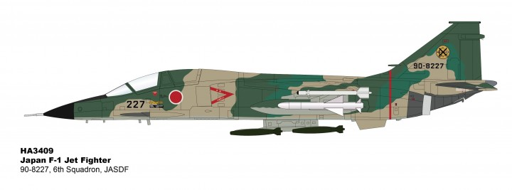 F-1 JASDF jet fighter 6th Squadron 90-8227 Hobby Master HA3409 scale  1:72