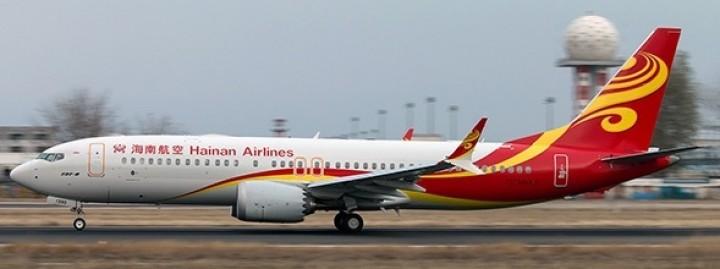 Hainan Boeing 737 Max-8 registration B-1390 海南航空 stand JC JC2CHH065 scale 1:200