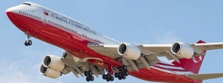 Turkish Goverment Boeing 747-8i TC-TRK stand  JCWings LH2ROT102 scale 1200
