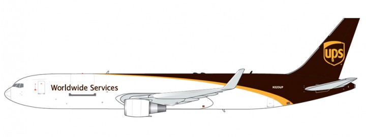 UPS New Livery Boeing 767-300F Reg# N320UP Gemini Jets GJUPS1664 Scale 1:400