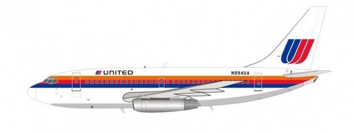 United Airlines Boeing 737-200 N994UA With Stand Inflight IF732UA0818 scale 1:200