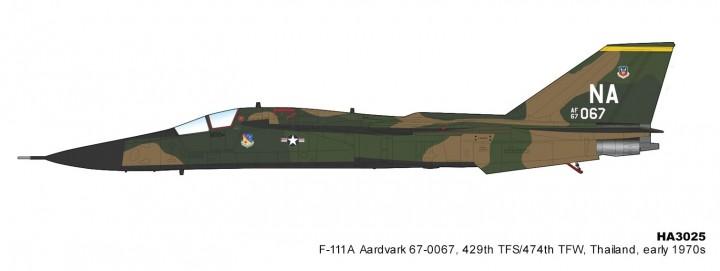 USAF F-111A Aardvark 429th TFS/474th TFW Thailand early 1970s Hobby Master HA3025 scale 1:72