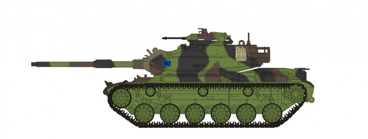 M60A3 Patton Tank West Germany 1990s Hobby Master HG5608 scale 1:72