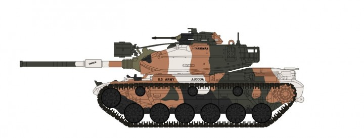 M60A1 Patton Tank 3rd Bttn 3rd Armored Division 1977 Hobby Master HG5604 scale 1:72