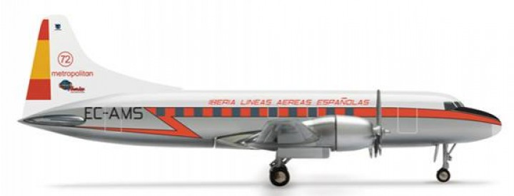 Sale! Iberia Convair CV-440 Reg# EC-AMS Herpa 818307 Scale 1:500 Highly detailed Herpa Wings dieacst metal