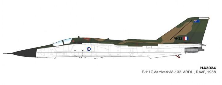 Australian AF F-111C Aardvark A8-132 ARDU RAAF 1988 Hobby Master HA3024 scale 1:72