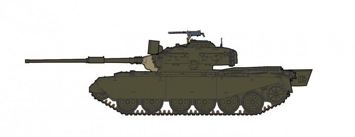Australia Centurion Mk.5 /1 C Squadron, 1st Armd Rgt RAAC Vietnam 1971 HG3513 scale 1:72
