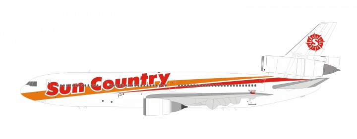 Sun Country Airlines Douglas DC-10-15 Polished N154SY InFlight IF10NZ0519P scale 1:200