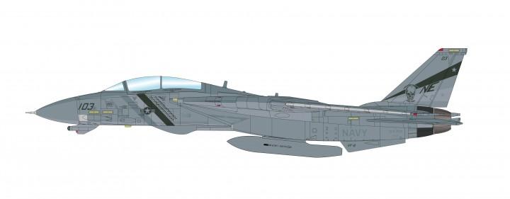 """US Navy F-14D Tomcat """"Bounty Hunters"""" 164350 VF-2, 2003 """"OIF"""" Hobby Master HA5227 scale 1:72"""