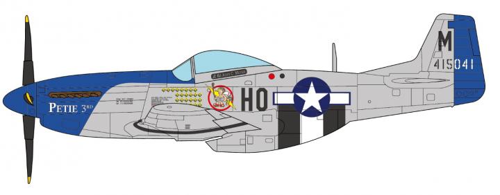 "USAir Force P-51D Mustang ""487th John C. Meyer JCW-72-P51-002 1:72"