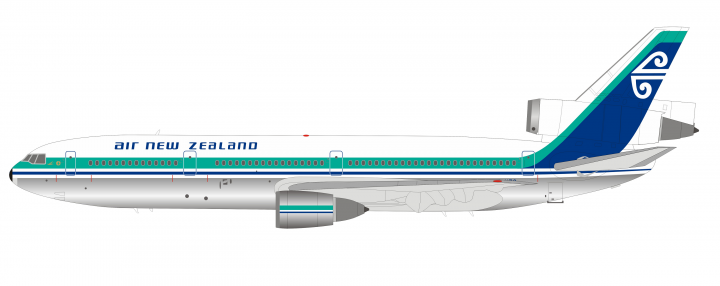 Air New Zealand Douglas DC-10-30 Polished ZK-NZQ InFlight IF10NZ0519P scale 1:200