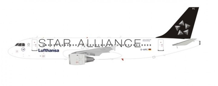 Lufthansa Star Alliance Airbus A320-211 D-AIPC stand JFox-InFlight JF-A320-014 scale 1-200