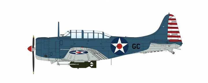 Douglas SBD-1 Dauntless CDR Howard Young Pearl Harbor Hobby Master HA0211  scale 1:32